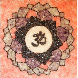 Sahasrara chakra made semiprecious crystals